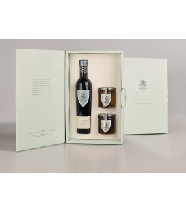 Estuche Aceite de Oliva Botella 500 ml. Marqués de Valdueza + Miel