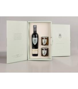 Olivenöl Futteral Flaschen 500 ml. Marqués de Valdueza + Honig