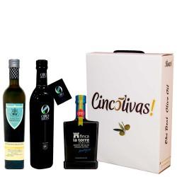 Olivenöl Futteral Flaschen 500 ml. Charge BESTEN 2017
