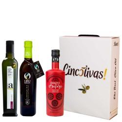 Olivenöl Futteral Flaschen 500 ml. Charge GESCHENK 1