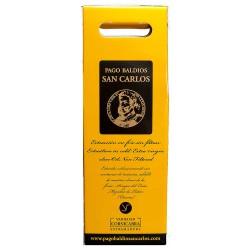 Coffret d'huile d'olive Bouteilles 500 ml. Pago Baldios San Carlos Arbequina