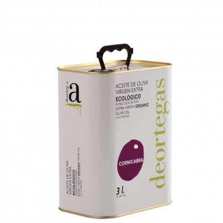 Olive Oil Can 3 L. Deortegas Ecologic Cornicabra