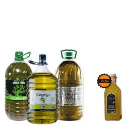 Huile d'Olive carafes 5L. Super Offre Cuisine 3 Carafes