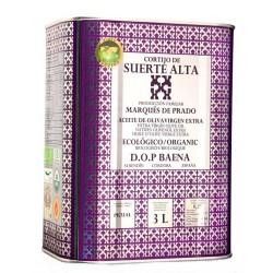 Aceite de Oliva Lata 3 L. Cortijo Suerte Alta Ecológico Picual.