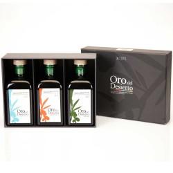 Coffret d'huile d'olive Bouteilles 250 ml. Oro del Desierto Ecológico