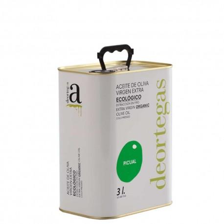 Aceite de Oliva  Lata 3 L. Deortegas Ecológico Picual.
