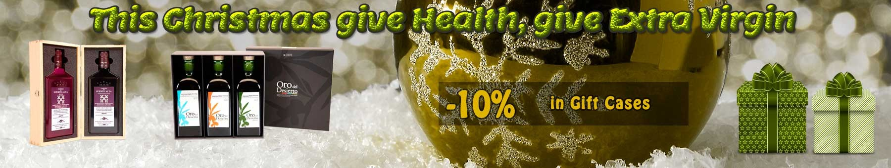 Olive oil gift cases for Christmas