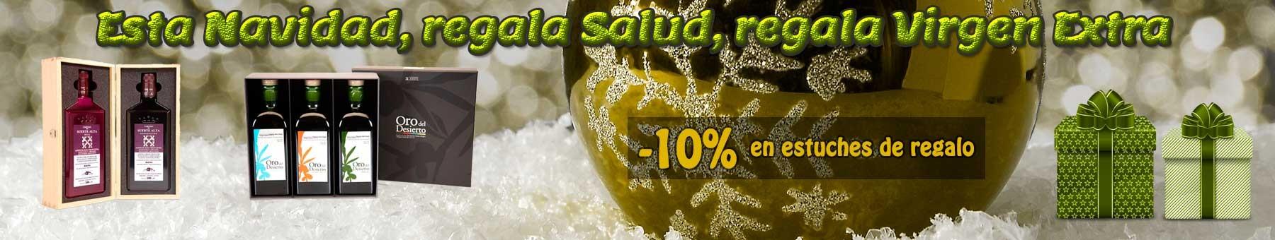 Regalar estuche aceite oliva virgen extra navidad